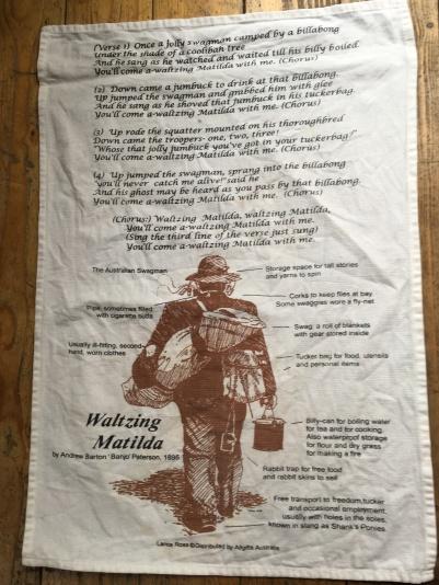 Waltzing Matilda: Vintage. On 'loan' from Hilary