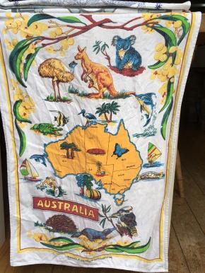Australia: Vintage. On 'loan' from Hilary. To read the story www.myteatowels.wordpress.com/2019/04/07/aus