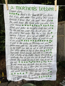 A Mother's Letter: 2018, possibly vintage. To read the story see Steve's Guest Tea Towel 2018