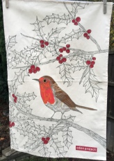 Robin Tea Towel: 2018. To read the story www.myteatowels.wordpress.com/2018/12/01/rob