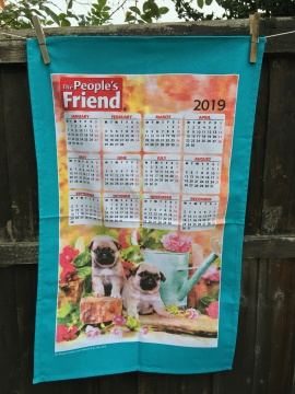 People's Friend 2019 Calendar. To read the story www.myteatowels.wordpress.com/2019/03/17/peo