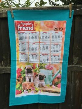 People's Friend 2019 Calendar. To read the story www.myteatowels.wordpress.com/2019/03/17/peo