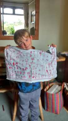 Isaac's Tea Towel. See his story in Guest Tea Towels