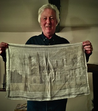 Cambridge University: On 'loan' from Paul who was a Guest Tea Towel 2020